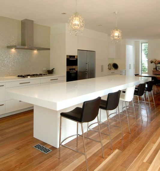 Contemporary Hanex kitchen counter and breakfast bar