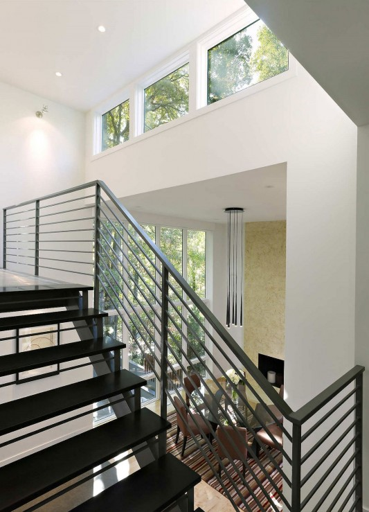 Contemporary Lakefront Residence by Moore Architects stairs