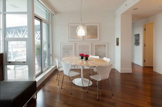 Contemporary Silversea Residence by Robert Bailey elegant dining furniture