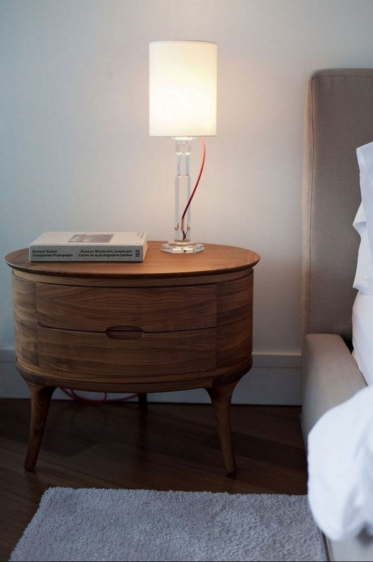 Contemporary Silversea Residence by Robert Bailey side table and lamp