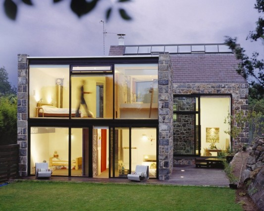 Contemporary Stone House Ideas exterior design