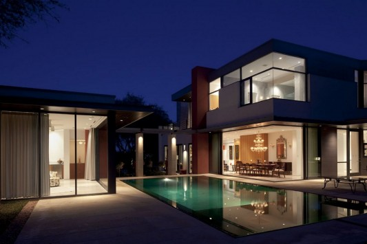 Contemporary Villa M by Brian Dillard Architecture exterior night view