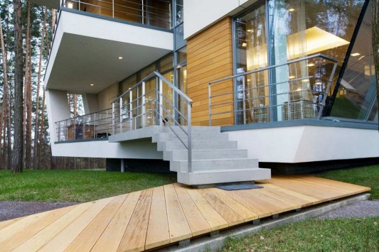 Contemporary Young Family House by Atrium Architects entry stairs