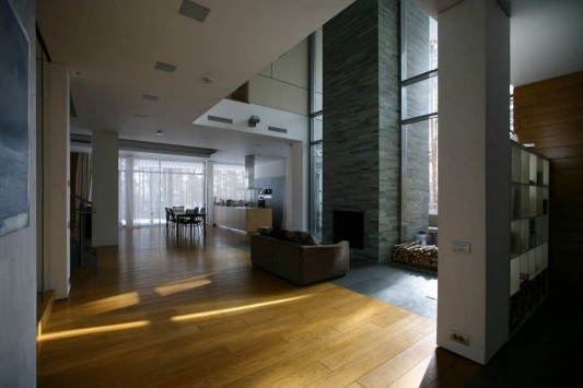 Contemporary Young Family House by Atrium Architects open interior concept