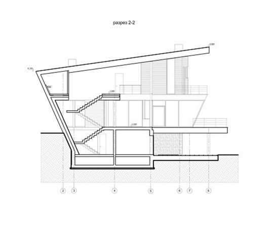 Contemporary Young Family House by Atrium Architects section