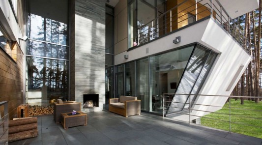 Contemporary Young Family House by Atrium Architects terrace design