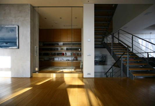 Contemporary Young Family House by Atrium Architects wooden floor