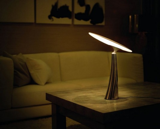Contemporary adjustable table lamp with LED light