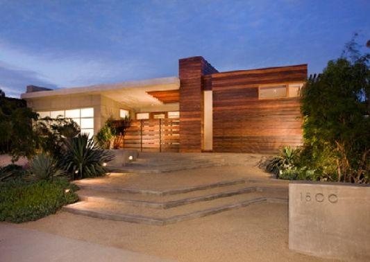 Corona Del Mar Residence Exterior Design Night