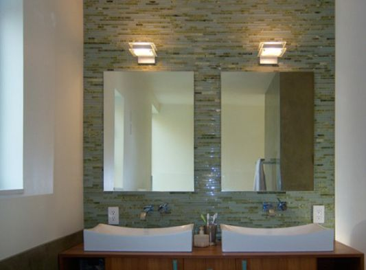Crane Residence three-story house bathroom ideas