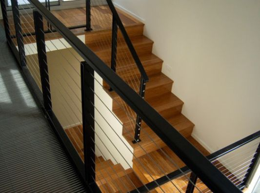 Crane Residence wooden stairs ideas