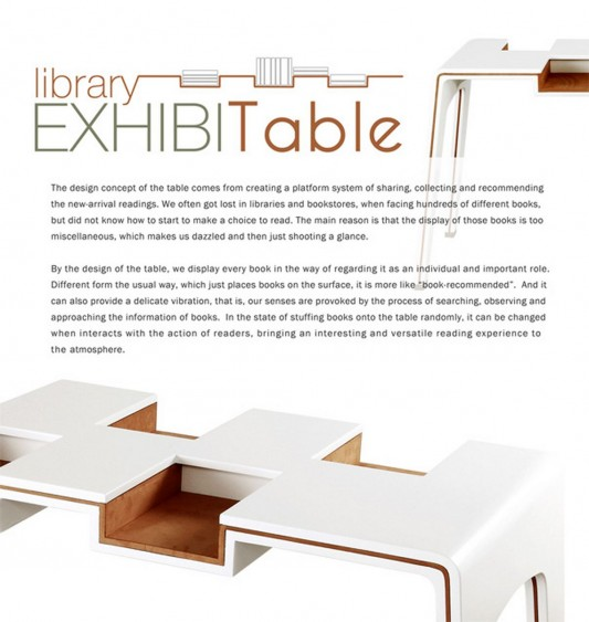 Creative and unique library table ideas