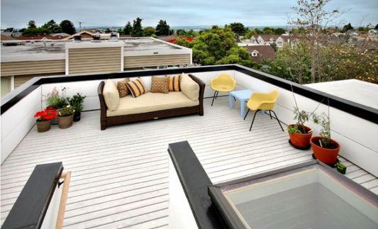 Crockett Residence design roof as terrace