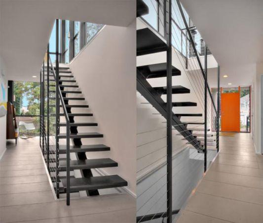 Crockett Residence minimalist stairs design
