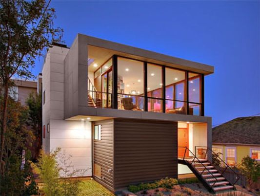 Crockett Residence modern minimalist home ideas & Modern Minimalist Houses with Tight Budget Crockett Residence by Pb ...