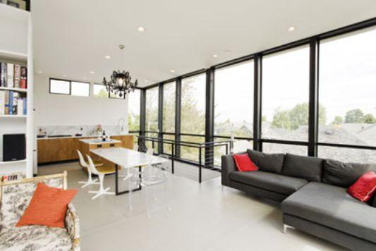 Crockett Residence modern minimalist living room ideas