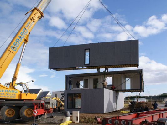 Crossbox modular home concept under contruction