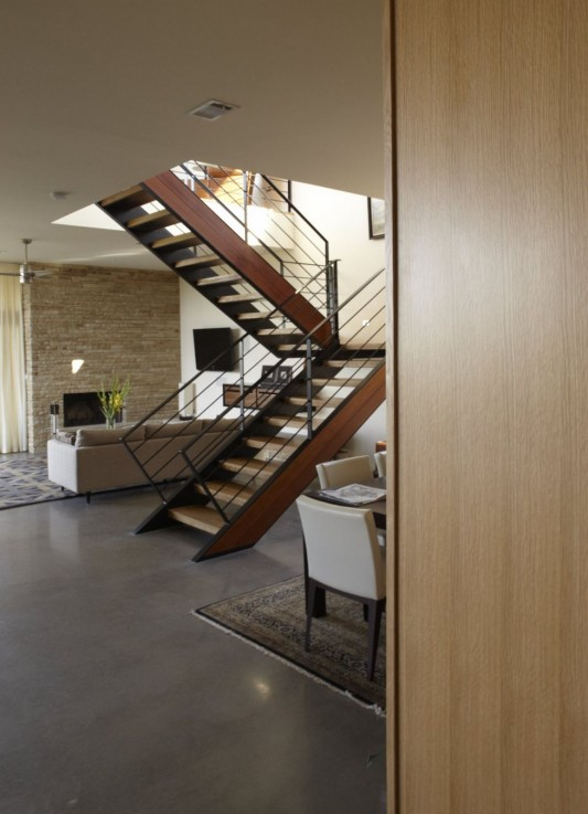 Custom Contemporary Lake Residence by Hsu Office of Architecture interior stair