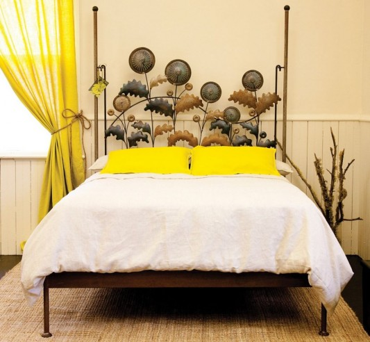 Dandelion Metal Bed beautiful classical bed design with artistic headrest