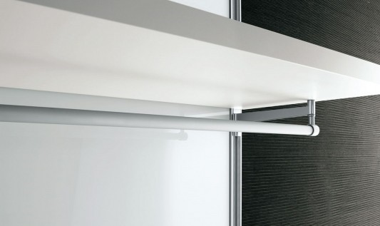 Dress bold walk-in closet minimalist practical rack detailed