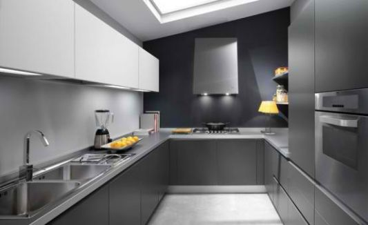 Elegant Gray Kitchen Design