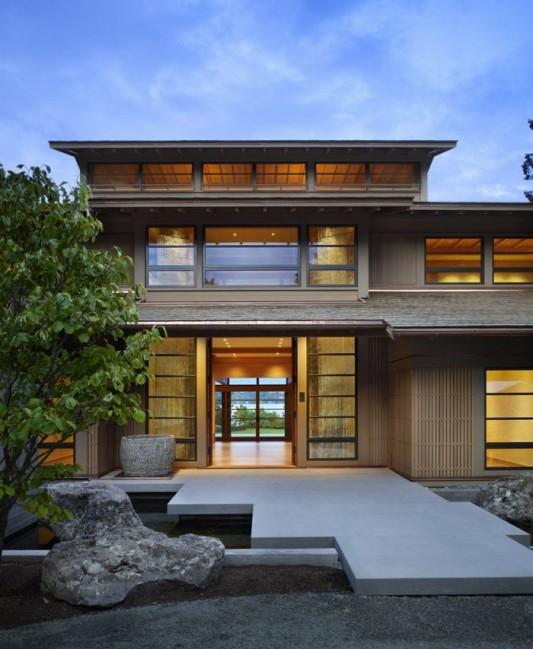 Modern Lake House Design: Natural Light Organizational Theme Lake House Design