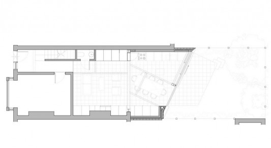 Faceted house - small house renovation plan
