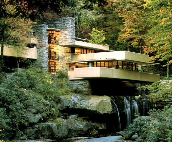 Fallingwater House Design With Natural Stone ideas