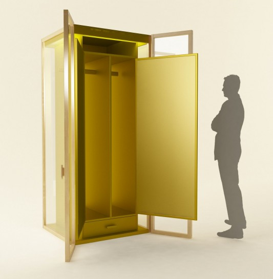 Flexible Modular and transparent Wardrobe System By Hierve