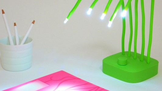 Fresh green desk lamp by Victor Vetterlein