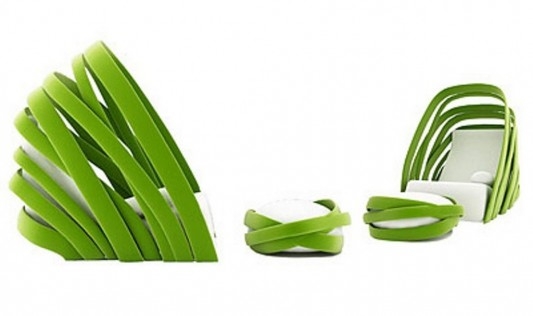 Superb Fresh Green Lounge Chair Banana Leaf Inspired Kanom By Beatyapartments Chair Design Images Beatyapartmentscom