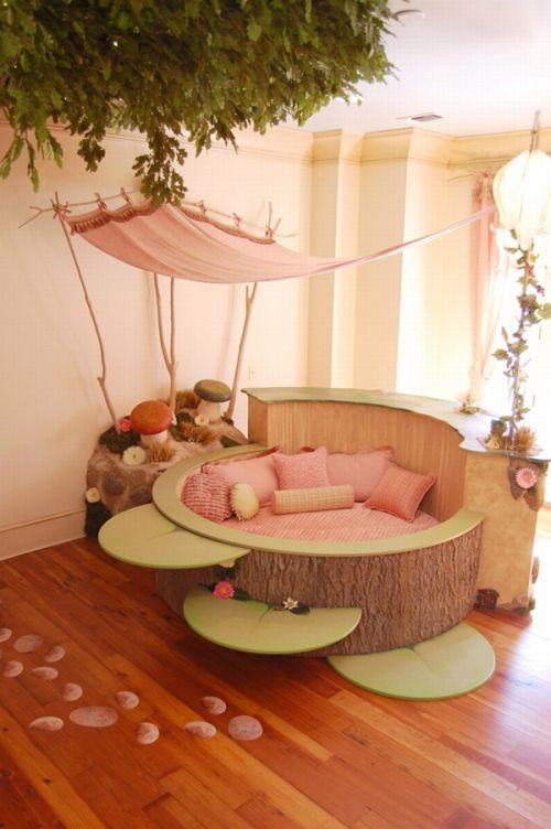 Girl Bedroom Design with bedroom tree ornament