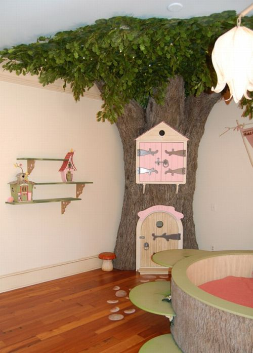 Girl Room with tree ornament