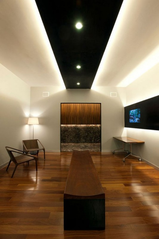 Naturally and glamorous contemporary office interior for Modern office lighting design
