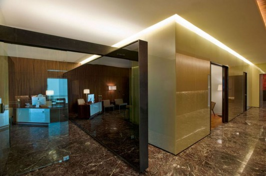 naturally and glamorous contemporary office interior design acbc