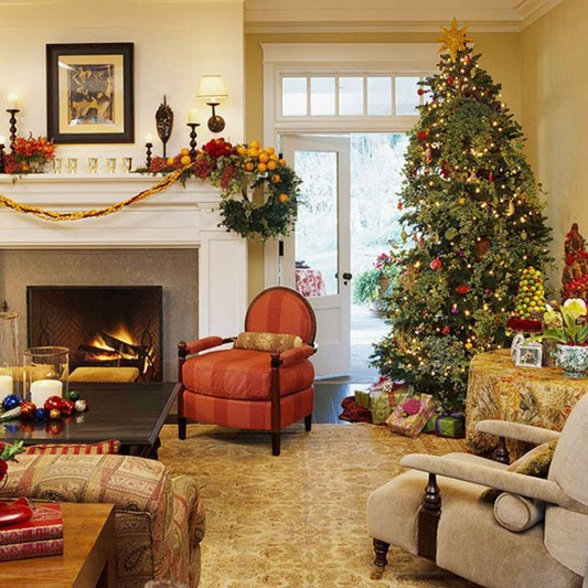 Great Christmas Living Room Decorating Ideas