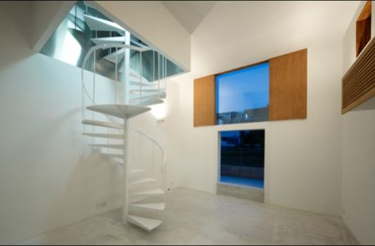 House In Ichikawa With Swivel Stairs by Nagaishi Architecture