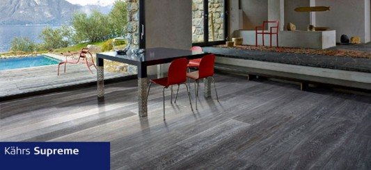 Kahrs Supreme wooden floor for modern retro interior style