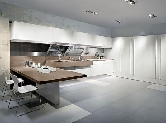 Kube comfortable kitchen work space in modern design