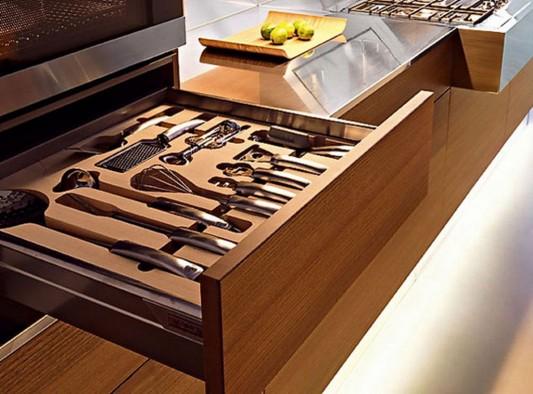 Kube kitchen with contemporary storage design