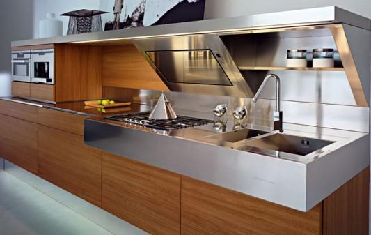 Kube modern stylish kitchen with simple work area