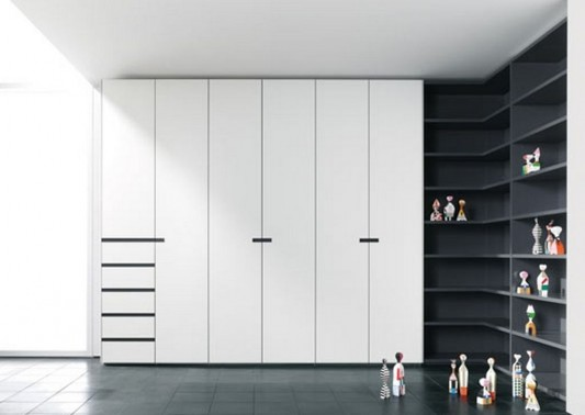 L-shapes design multifunction wardrobes with cabinet for openness room decorating