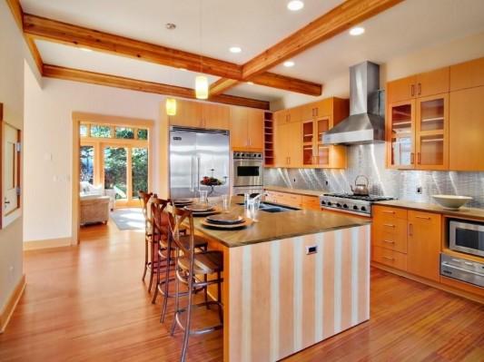 Lake washington residence with natural kitchen decoration-ideas