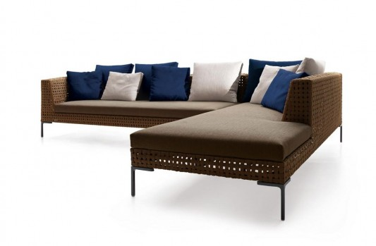 Latter-L contemporary comfortable outdoor sofa with pillow