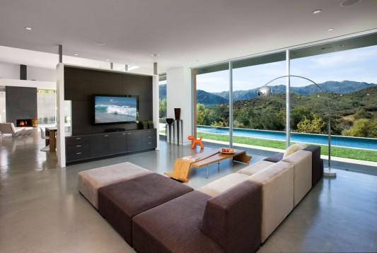 Lima residence modern minimalist living room with open concept
