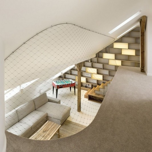 Loft apartment interior with Generous design