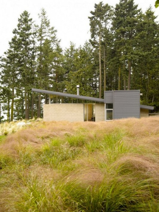 Lopez Island Cabin by Stuart Silk Architects exterior design