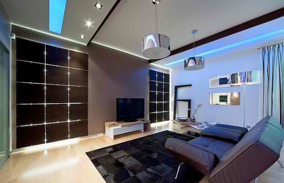 Luxurious Apartment Interior Design living room