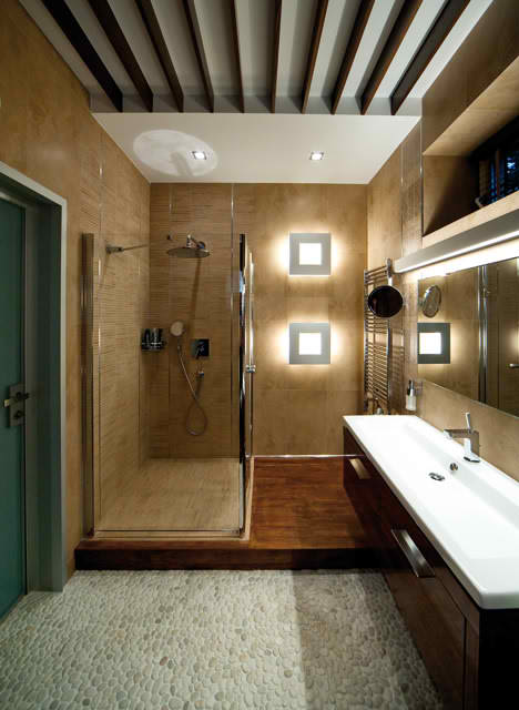 Luxurious Apartment Interior Design, elegant bathroom