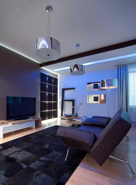Luxurious Apartment Interior Design, family room